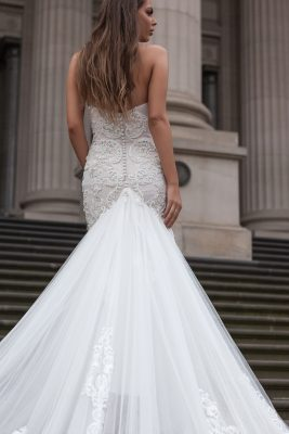 Mermaid two tone wedding Dress 2018