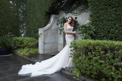 Elegant 2018 wedding dress with pearl detail Melbourne