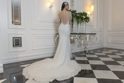 Fitted Low Back Wedding Dress Melbourne