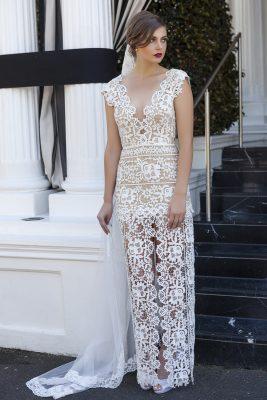 Front Split Wedding Dress Melbourne