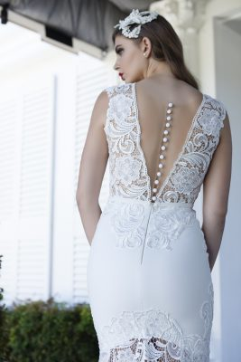 Illusion Back Lace Wedding Dress Melbourne