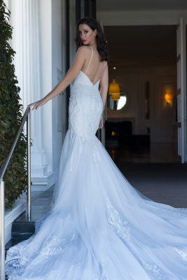 Lace Fishtail Wedding Dress Melbourne
