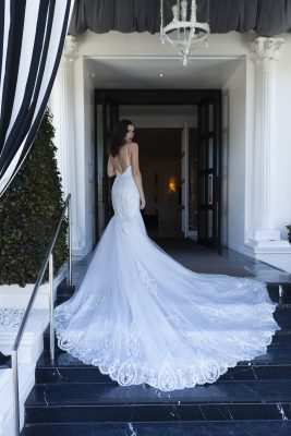 Long Lace Train Wedding Dress Melbourne