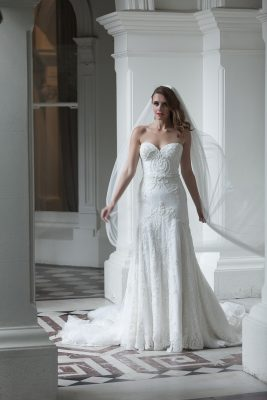 Modern Lace Wedding Dress Melbourne