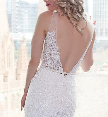 Low V Back Lace Gown Melbourne