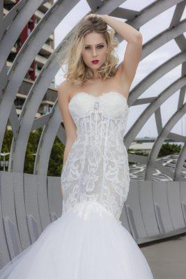 Elegant Sleek Couture Wedding Dress Melbourne