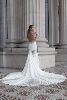 Detachable train wedding dress Melbourne
