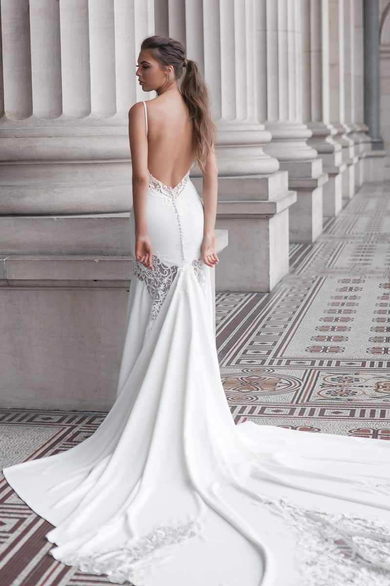 Kasia couture collection lookbook bride for Wedding dresses with dramatic backs