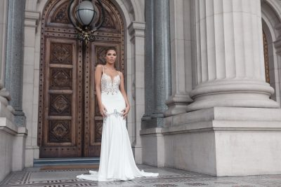 Stunning lace detail wedding gown Melbourne