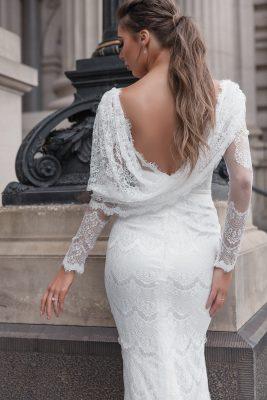 Scoop back wedding dress Melbourne