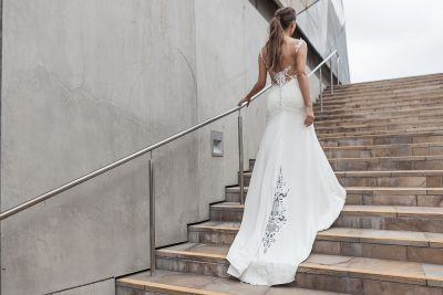 Affordable Lace fishtail Wedding Dress Melbourne