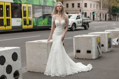 Modern romantic wedding gown Melbourne