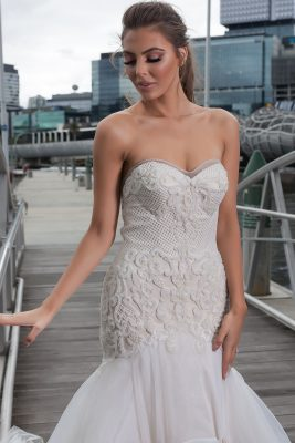 Sheer back wedding Dress Melbourne