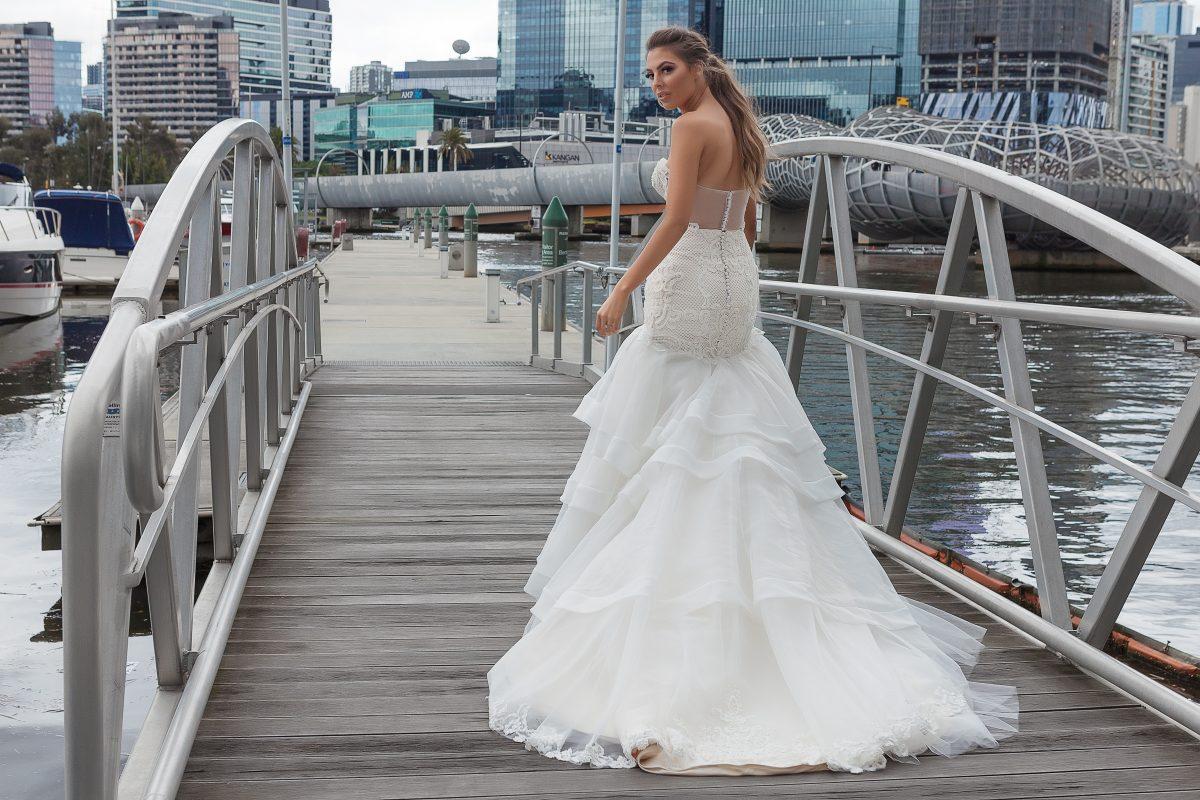Illusion back wedding dress 2018 Melbourne