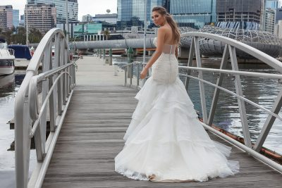 Illusion back wedding dress 2018 Melbourne