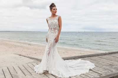 2018 Sheer wedding gown Melbourne