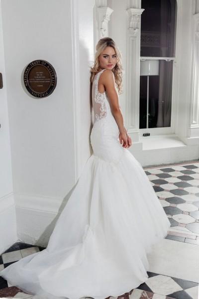Sheer Back Wedding Dress With Straps Melbourne