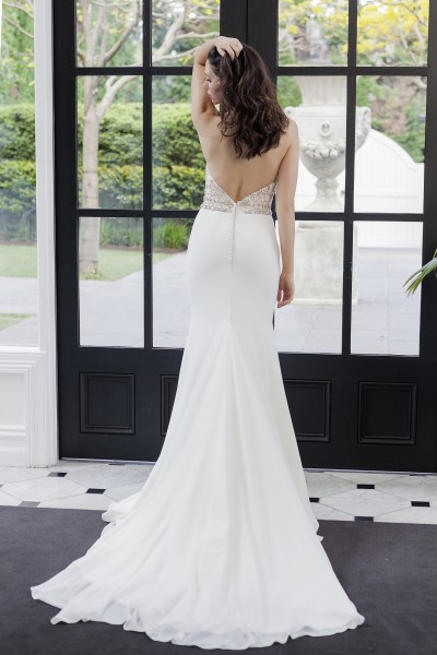 Modern Lace Beaded Wedding Gown