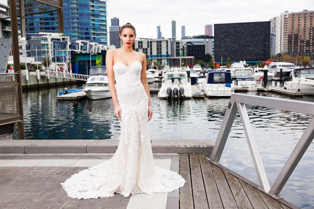 Nema Gown Lace Wedding Dress Melbourne By Lookbook Bride